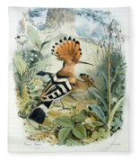 Hoopoe Fleece Blanket
