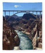 Hoover Dam Bridge Fleece Blanket