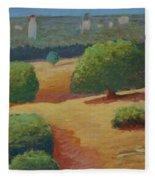 Hoover Tower In Sight Fleece Blanket