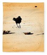 Hop Like A Bunny Bird - Jersey Shore Fleece Blanket