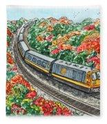 Hop On A Train Fleece Blanket