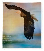 Hope In The Lord Fleece Blanket