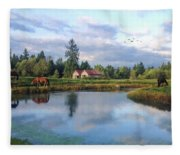 Hope Is Not A Dream - Hope Valley Art Fleece Blanket