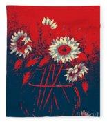 Hope Sunflowers  Fleece Blanket
