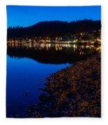 Hopfensee Lake Landscape Fleece Blanket