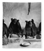 Hopi Grinding Grain, C1906 Fleece Blanket