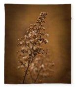 Horicon Marsh - Wildflower Golden Glow Fleece Blanket