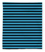 Horizontal Black Inside Stripes 18-p0169 Fleece Blanket