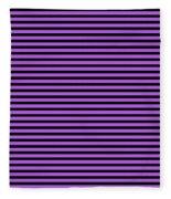 Horizontal Black Inside Stripes 30-p0169 Fleece Blanket