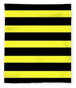Horizontal Black Outside Stripes 05-p0169 Fleece Blanket