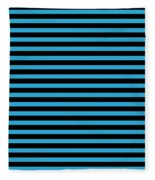 Horizontal Black Outside Stripes 18-p0169 Fleece Blanket