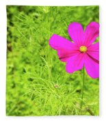 Pink Cosmos II Fleece Blanket