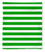 Horizontal White Inside Stripes 09-p0169 Fleece Blanket