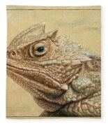 Horned Toad Fleece Blanket