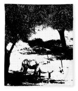 Horns And Shadows Fleece Blanket