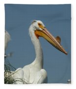 Horny Pelican Fleece Blanket