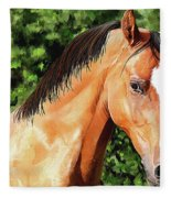 Horse 2 August 2016 Fleece Blanket