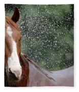 Horse Bath I Fleece Blanket