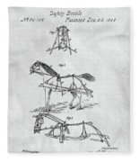 Horse Bridle Patent Fleece Blanket