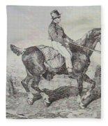 Horse Carriage Fleece Blanket