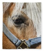 Horse Close Up Fleece Blanket