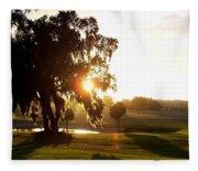 Horse Country Sunset Fleece Blanket