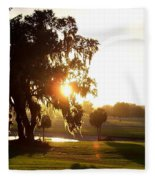 Horse Country Sunset Fleece Blanket