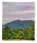 Horse Drawn Carriage At Muckross House Fleece Blanket