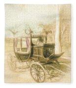 Horse Drawn Funeral Cart  Fleece Blanket