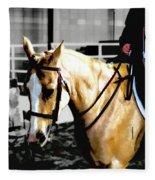 Horse Equus Ferus Caballus V2 Fleece Blanket