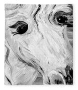 Horse Eyes Fleece Blanket