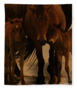 Horse Family  Fleece Blanket