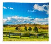 Horse Farm 6 Fleece Blanket