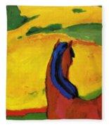 Horse In A Landscape 1910 Fleece Blanket