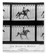 Horse In Motion, 1878 Fleece Blanket