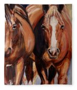 Horse Oil Painting Fleece Blanket