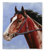 Horse Painting - Determination Fleece Blanket