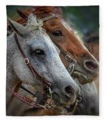 Horse Pair Fleece Blanket