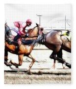 Horse Racing Dreams 2 Fleece Blanket