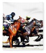 Horse Racing Dreams 3 Fleece Blanket