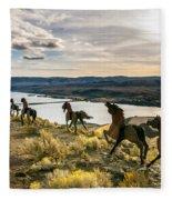 Horse Sculpture 4 Fleece Blanket