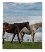 Horses #2 Fleece Blanket