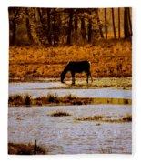 Horse Silhouetted Fleece Blanket