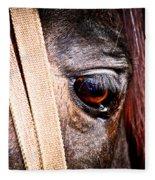 Horse Tears Fleece Blanket