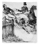 Horseback Riders, C1840 Fleece Blanket