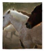 Horses-02 Fleece Blanket