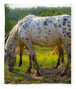 Horses And Buttercups Fleece Blanket