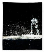 Horses And Men In Rain Fleece Blanket
