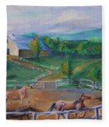 Horses At Gettysburg Fleece Blanket