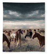 Horses Forever Fleece Blanket